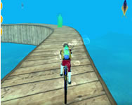 Underwater bicycle racing tracks bmx impossible stunt